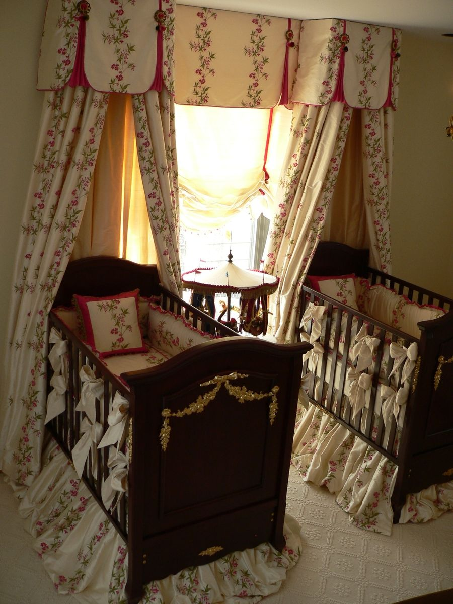 Custom rectangular bed canopy by caty 39 s cribs for Rectangle bed canopy