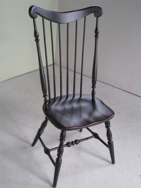 Custom Made Black High Back Side Dining Chair
