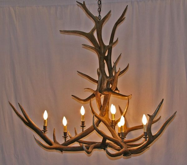 "Elk Lighting Owner: Custom Elk Antler Chandelier ""Two-Top Telluride"" By New"