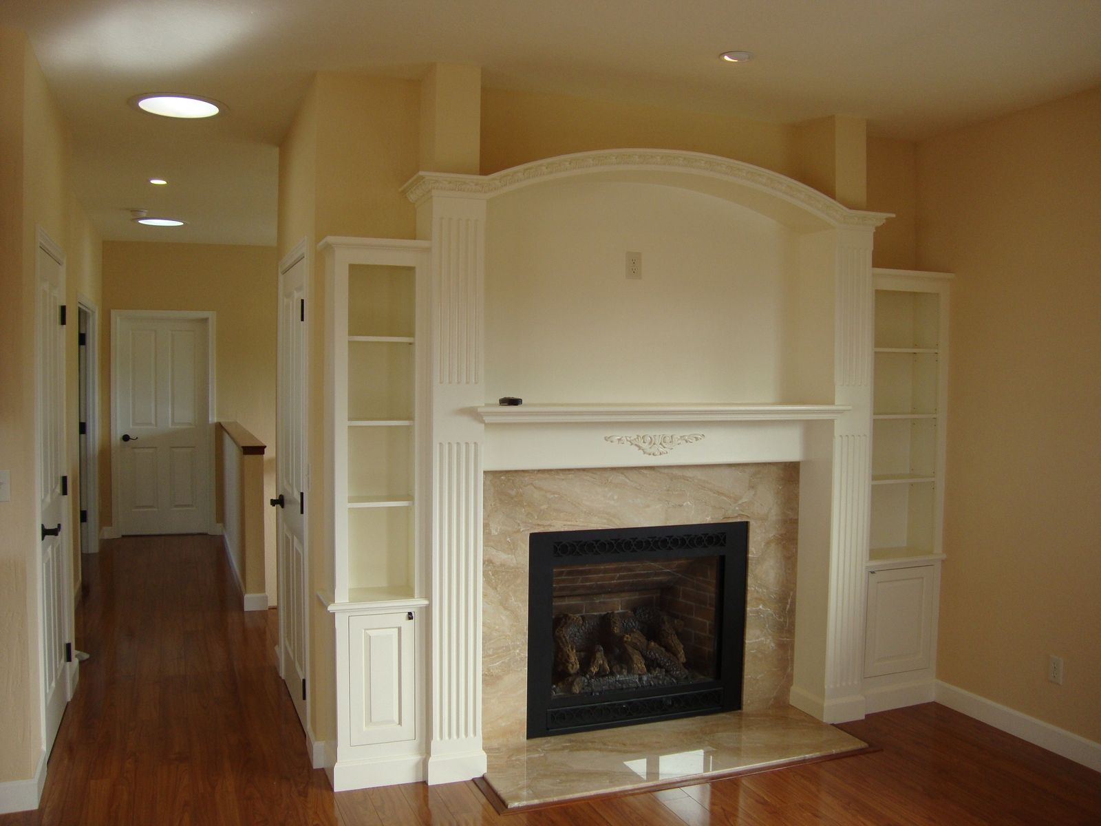 Hand Crafted Fireplace Surround By Top Notch Carpentry Inc