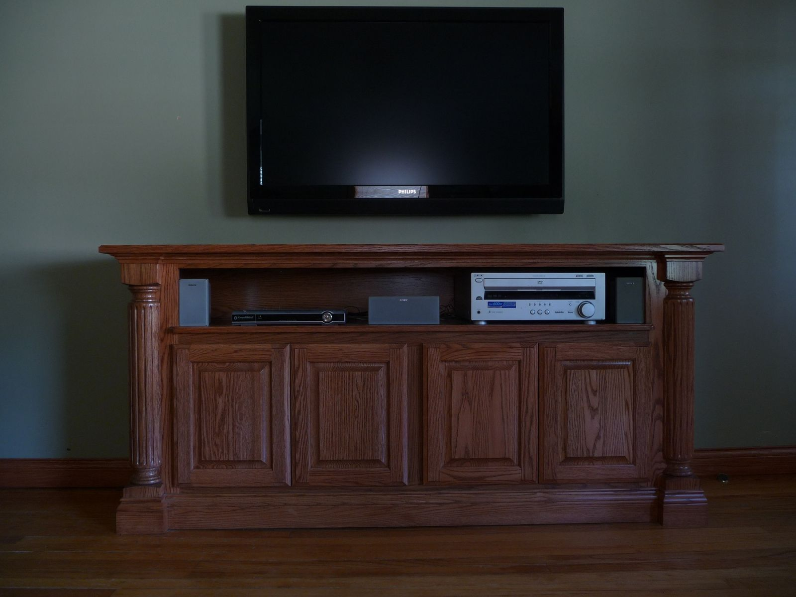 Handmade entertainment center by eickhoff woodworks - Made com meuble tv ...