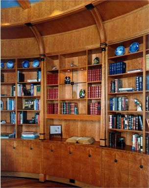Custom Made Oval Cherry Library