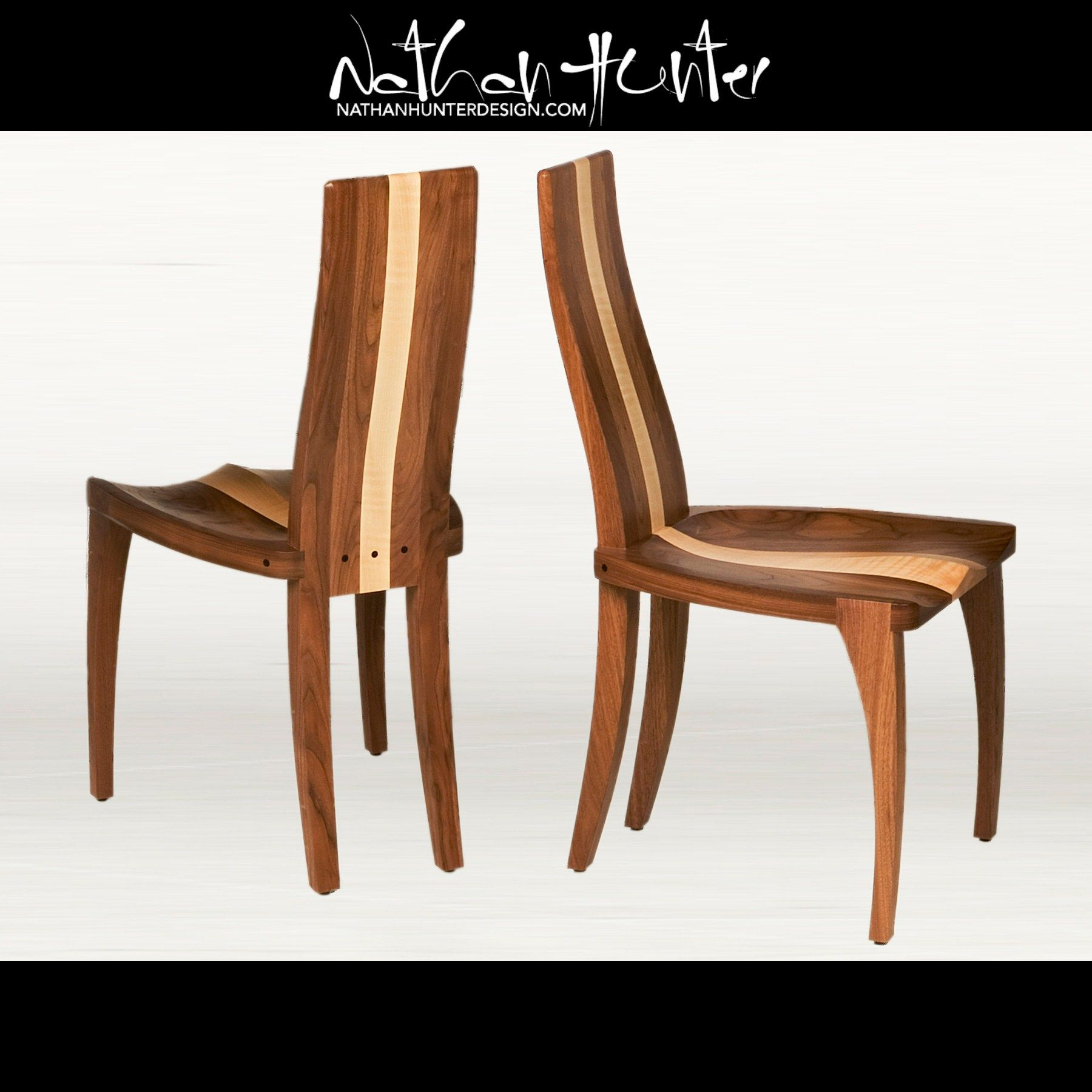 Custom comfortable slim wood dining room chair with a for Comfortable modern dining chairs