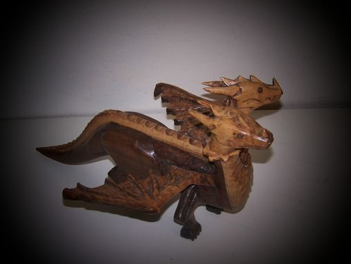 Custom Made Two Noggins 2 Headed Dragon