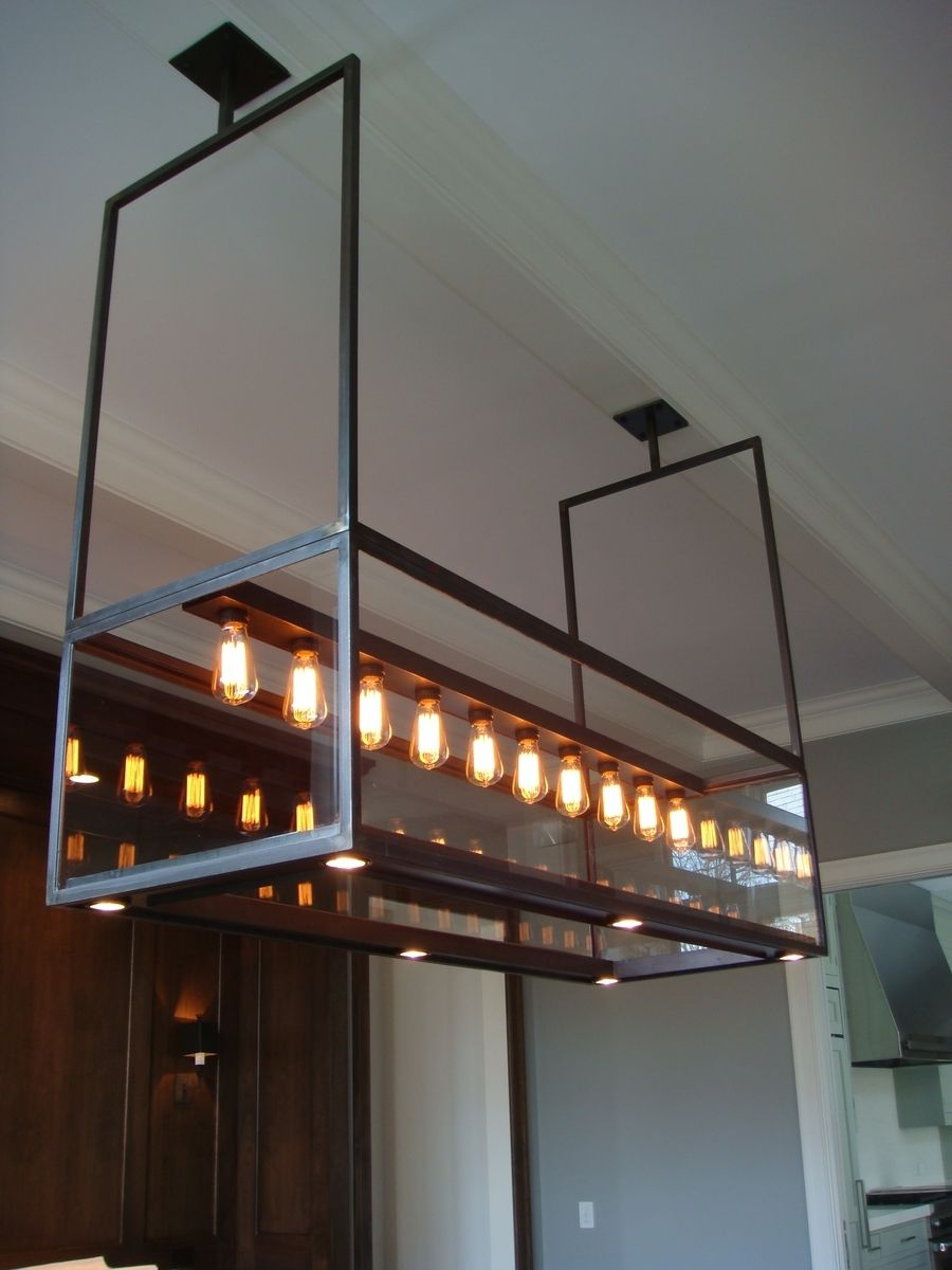 Lighting - Modern Custom Steel & Glass Chandelier