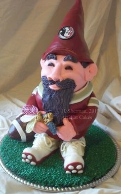 Custom Made Fsu Gnome Art Cake