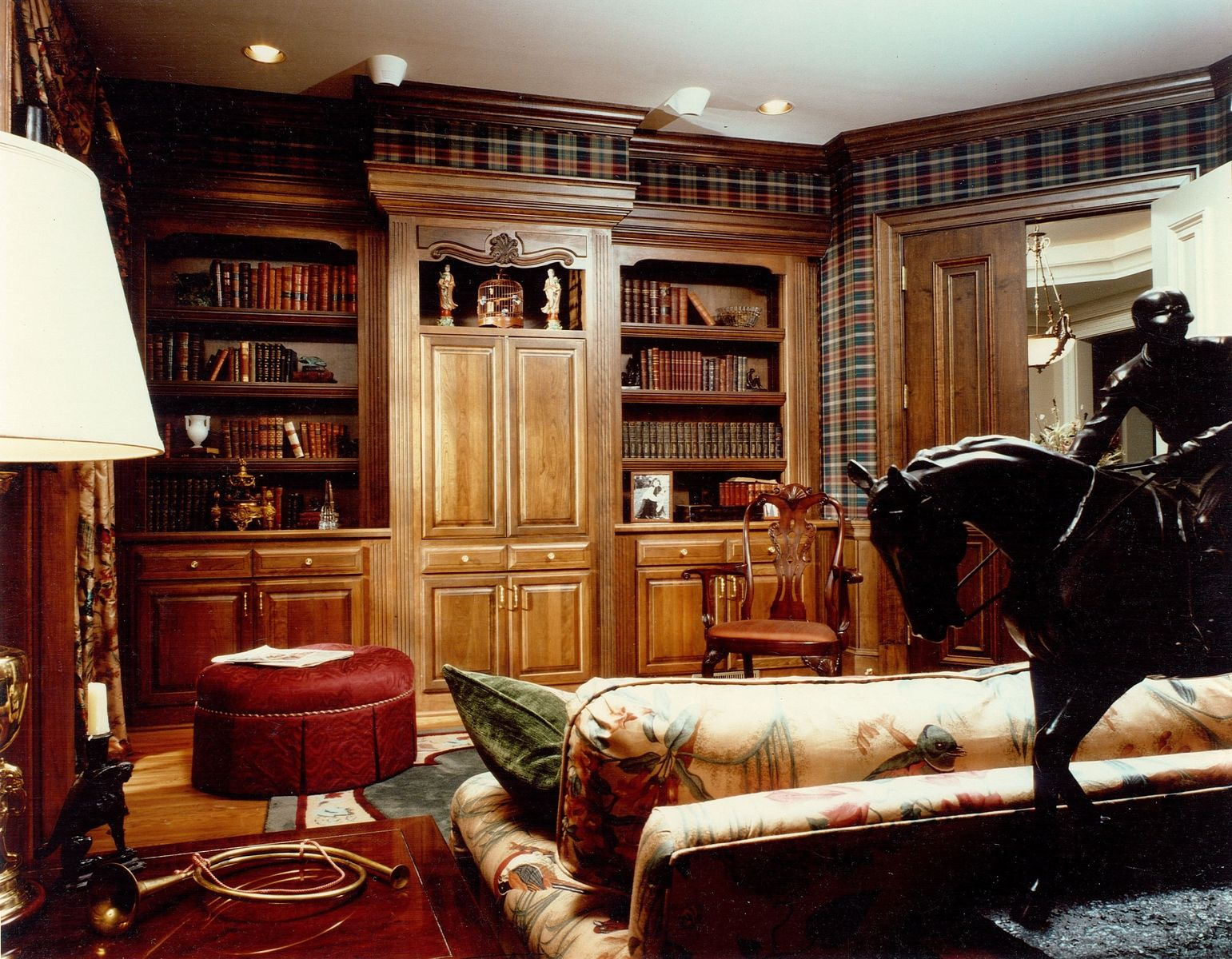 Hand made built in cabinetry for home library office by Custom design home