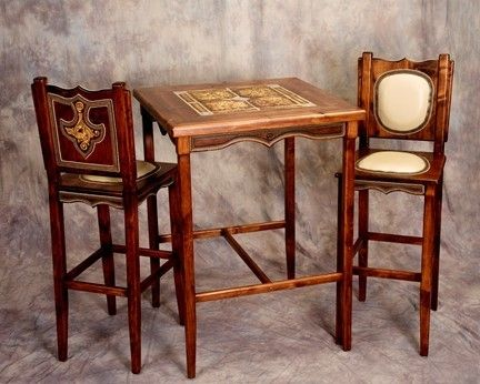 Custom Made Pub Table And Chairs