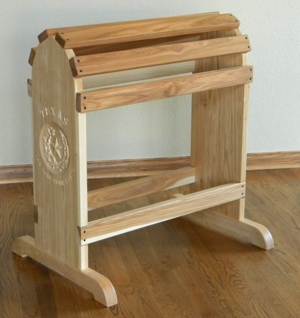 Hand crafted furniture quality saddle rack by north texas for Custom made furniture