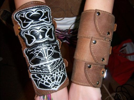 Custom Assassins Creed 1 Bracer Set By Barbarian Leather Custommade Com