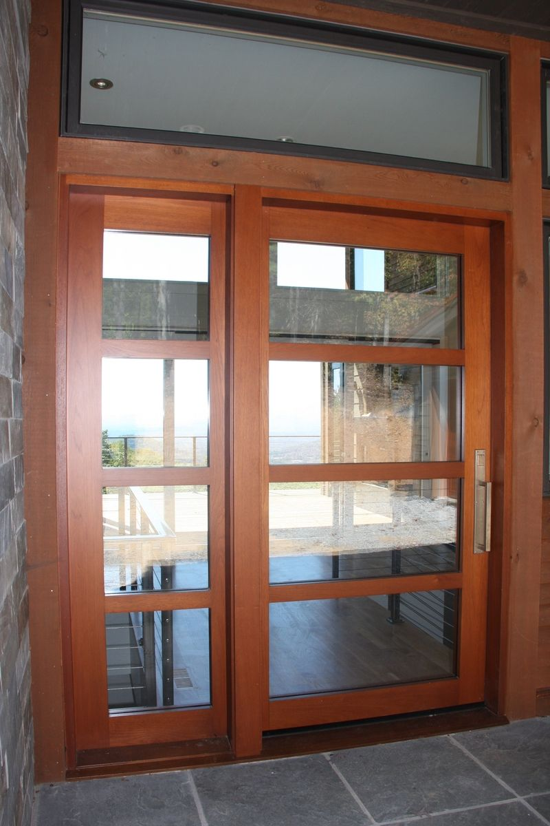 Hand made mountain contemporary entry doors by appwood for Custom made doors