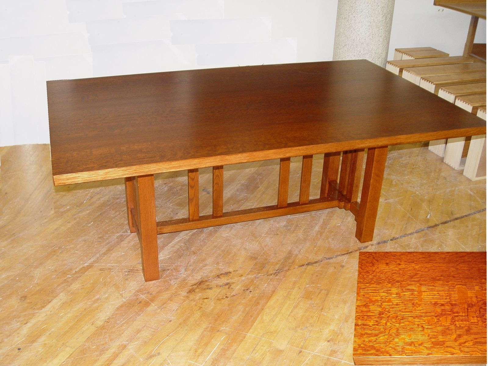 custom oak dining table by kirk custom furniture