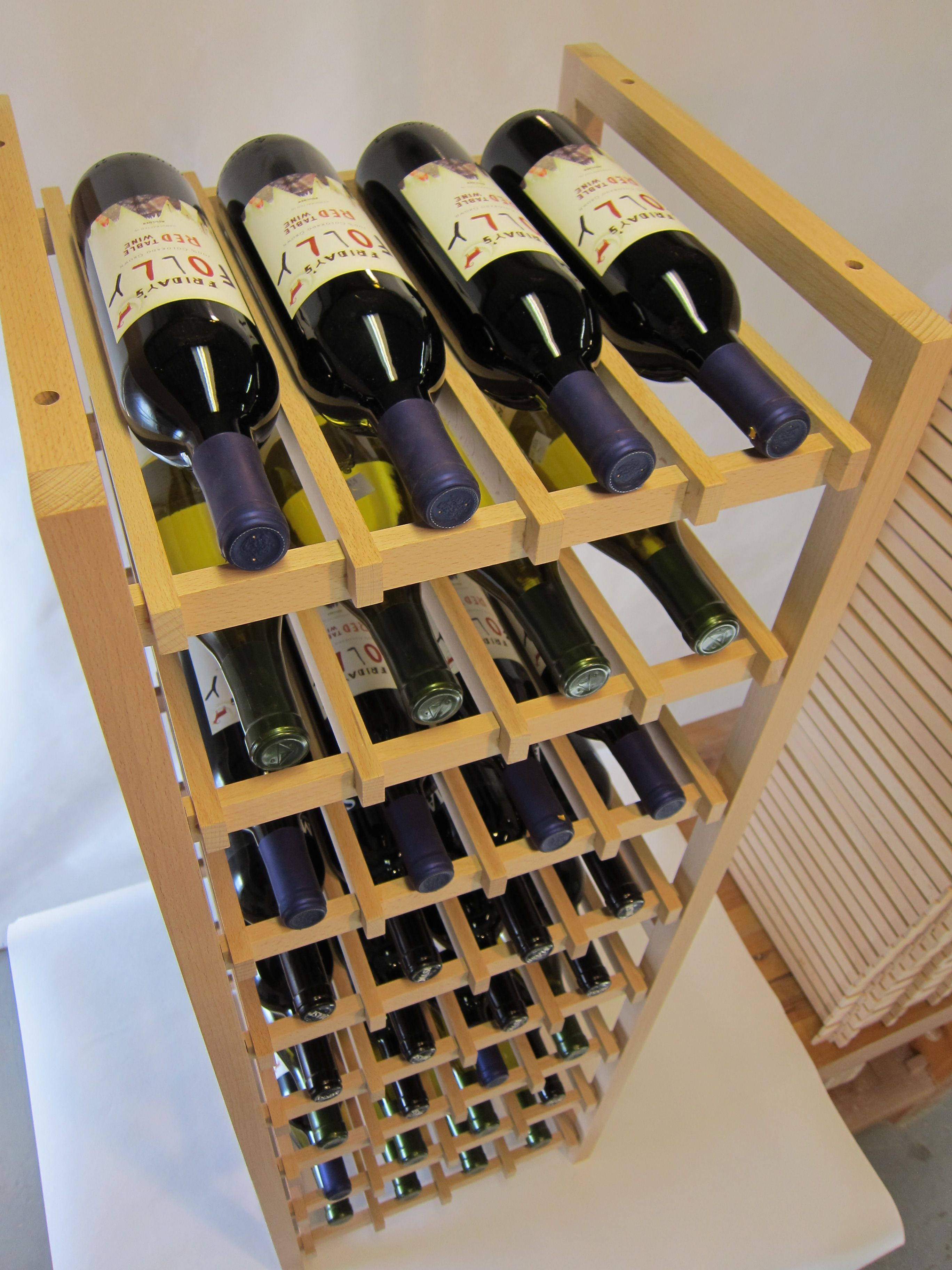 Buy a Hand Crafted Grape Stake Wine Rack, made to order ... |Unique Wood Wine Rack