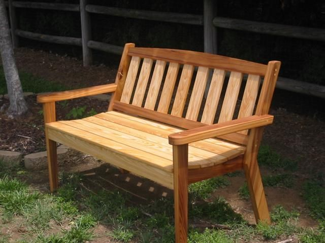 Handmade Cypress Garden Bench By The Wood Shed