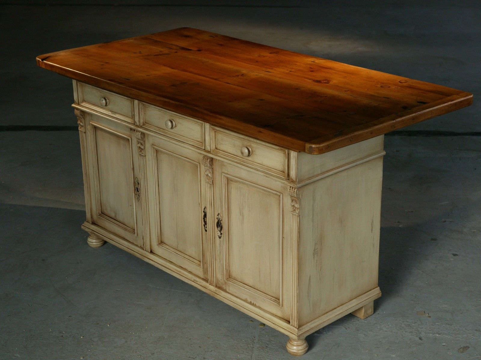 Custom Kitchen Island Furniture: European Sideboard Base In Snow White ...