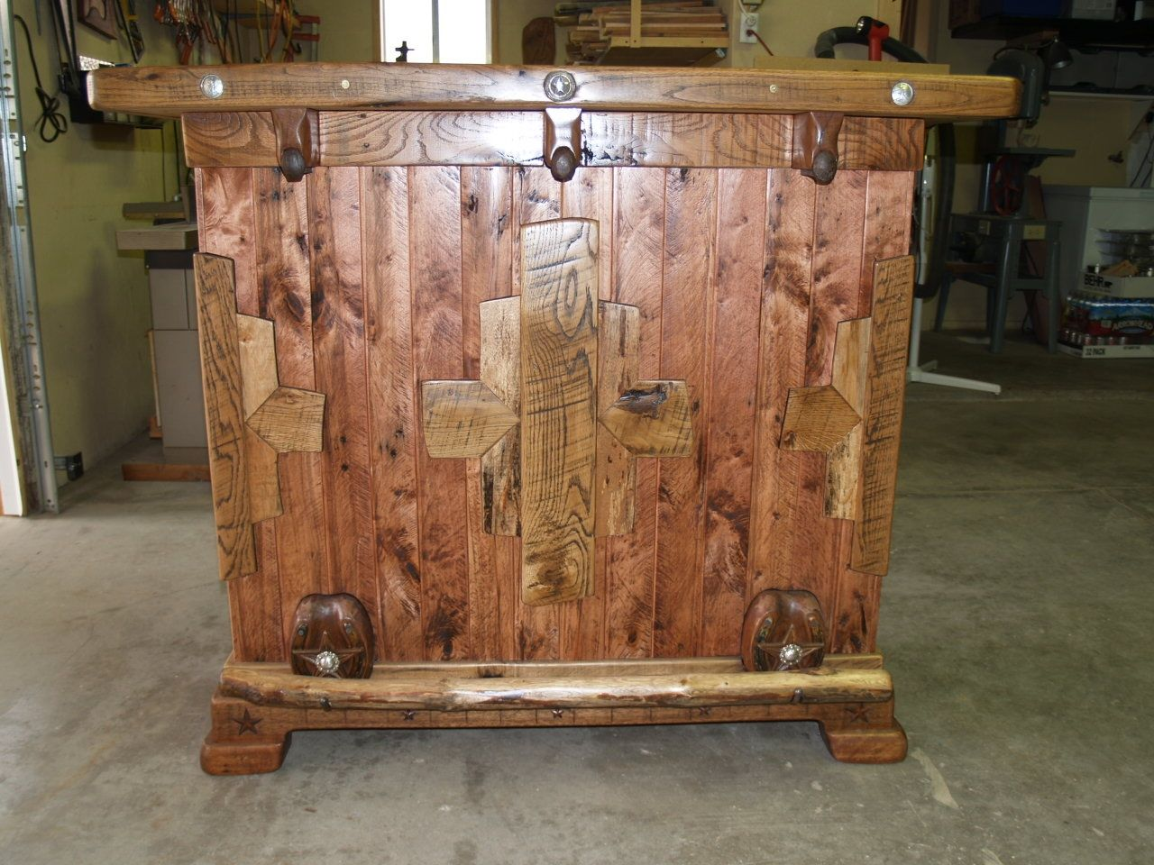 Custom Made Rustic Bar By Art Of Wood Custommade Com