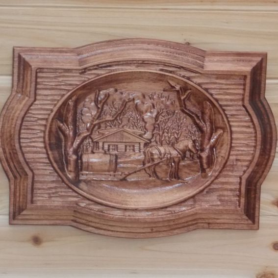 Hand made old farm wood art wall hanging maple hardwood