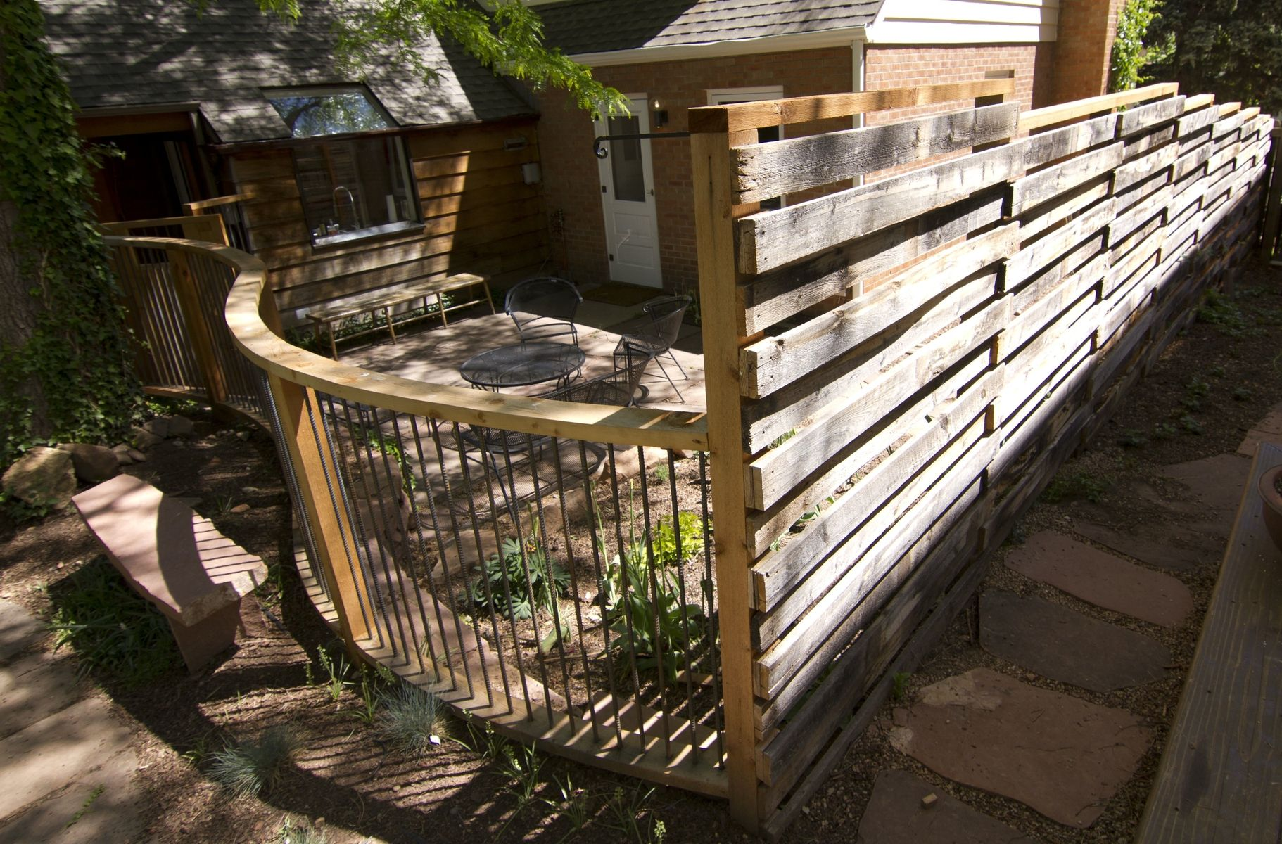 Hand Crafted Curved Cedar Fence By Rossmonster Design