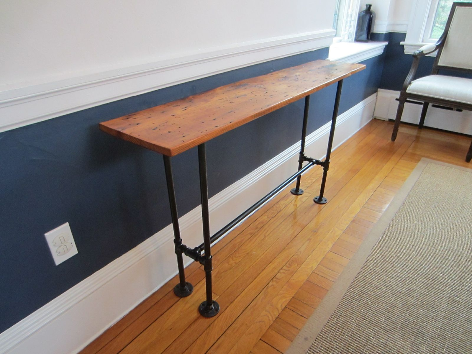 Custom Barnwood Console Table By John Gaines Woodworking