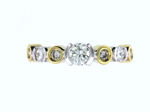 Custom Made Diamond Bezel And Half Bezel Ring