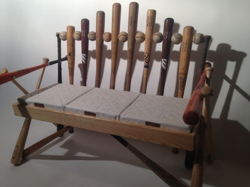 Hand Crafted Baseball Bat Bench By Rocky Mountain