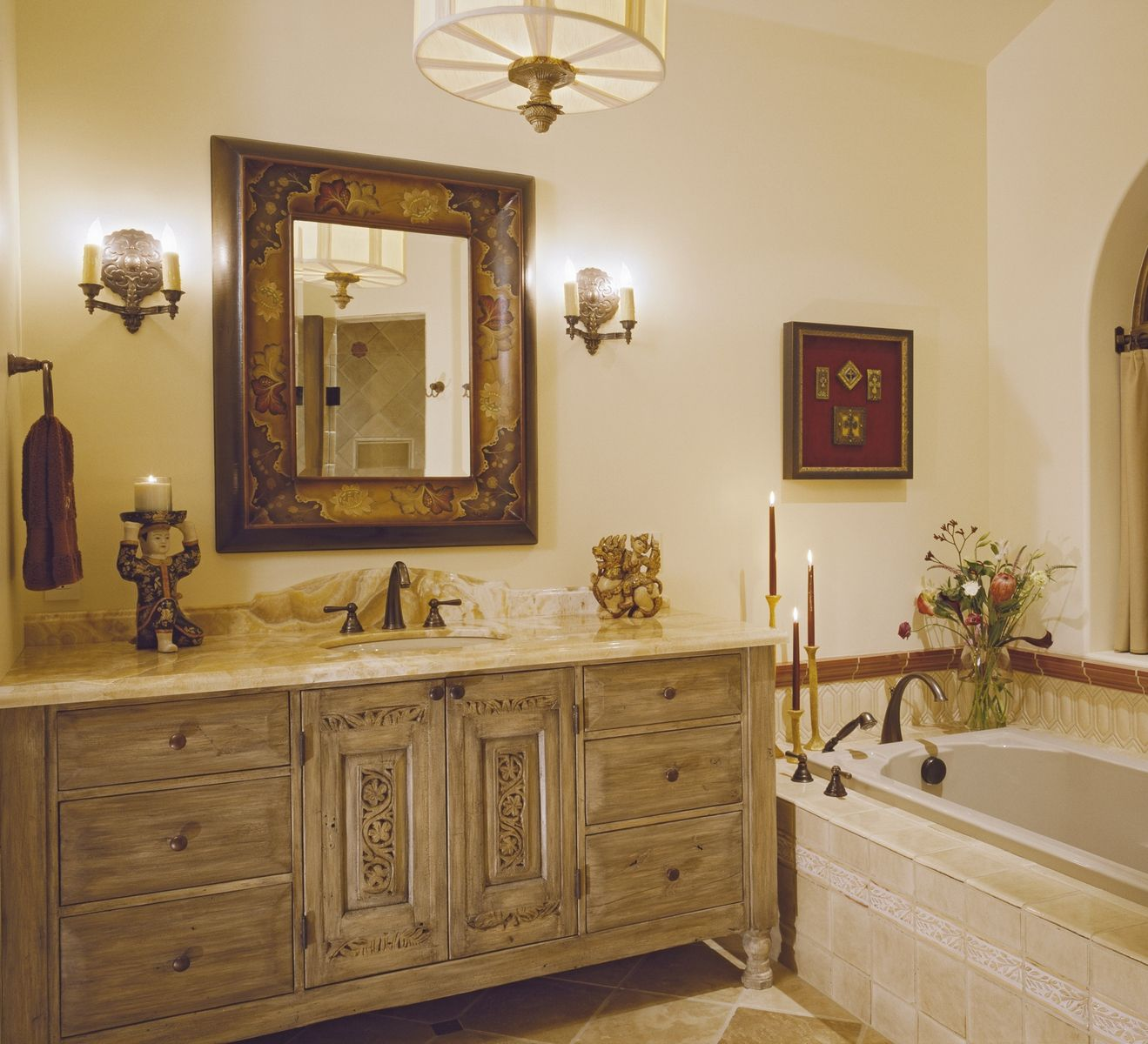 Hand Made Bathroom Vanity Cabinetry 2nd Master Bath By