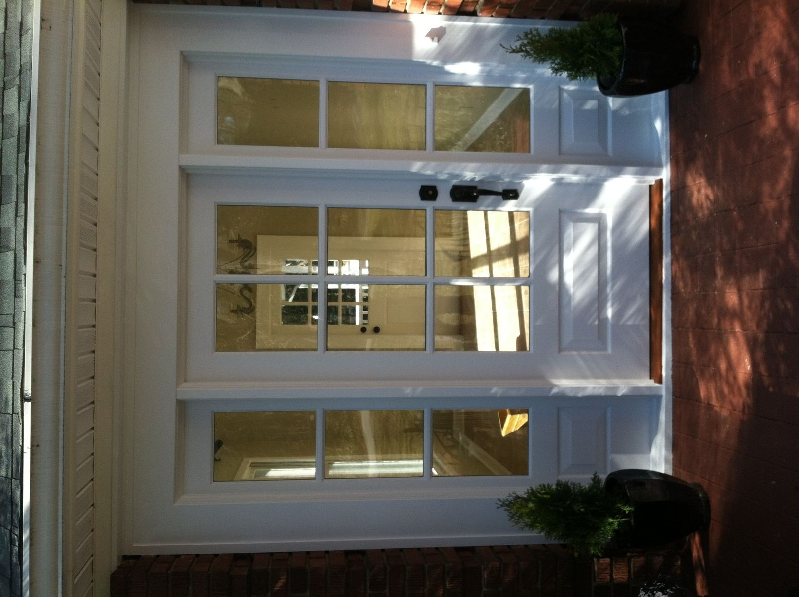 custom entry door with sidelights by pauls custom woodworking
