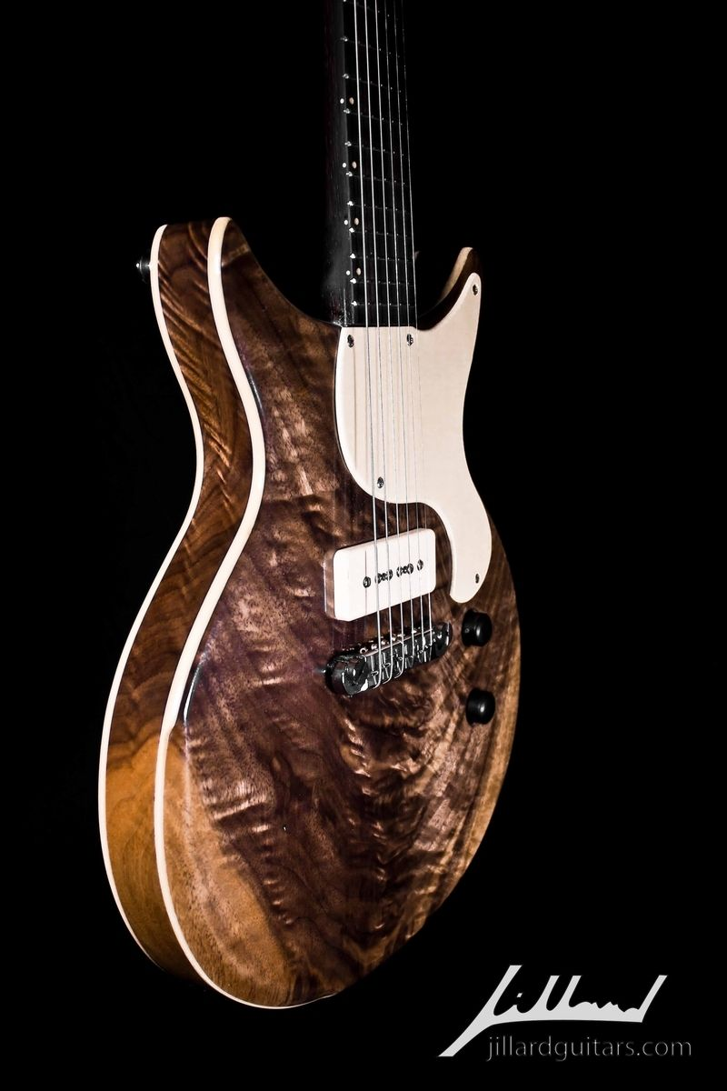 hand made walnut jillard jr electric guitar by jillard guitars. Black Bedroom Furniture Sets. Home Design Ideas
