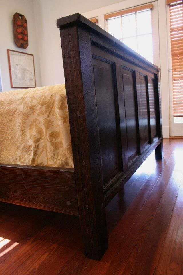 Hand Made New Orleans Inspired Bed Made From Cypress Doors