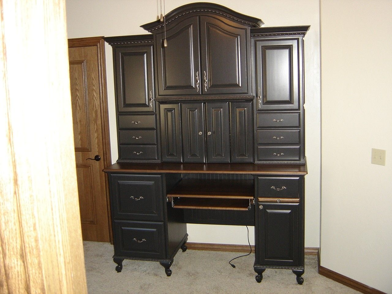 Custom Computer Armoire By Parkers Custom Hardwoods Inc