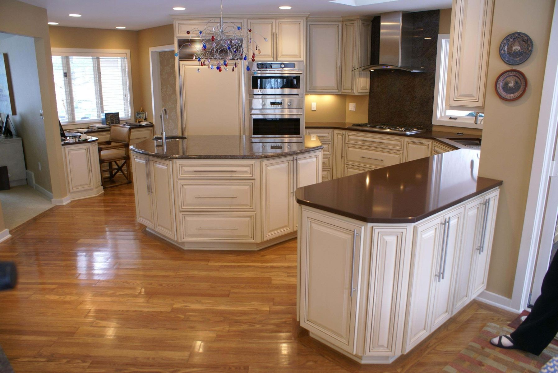 Custom Made Glazed Kitchen By Bergstrom Cabinets Inc