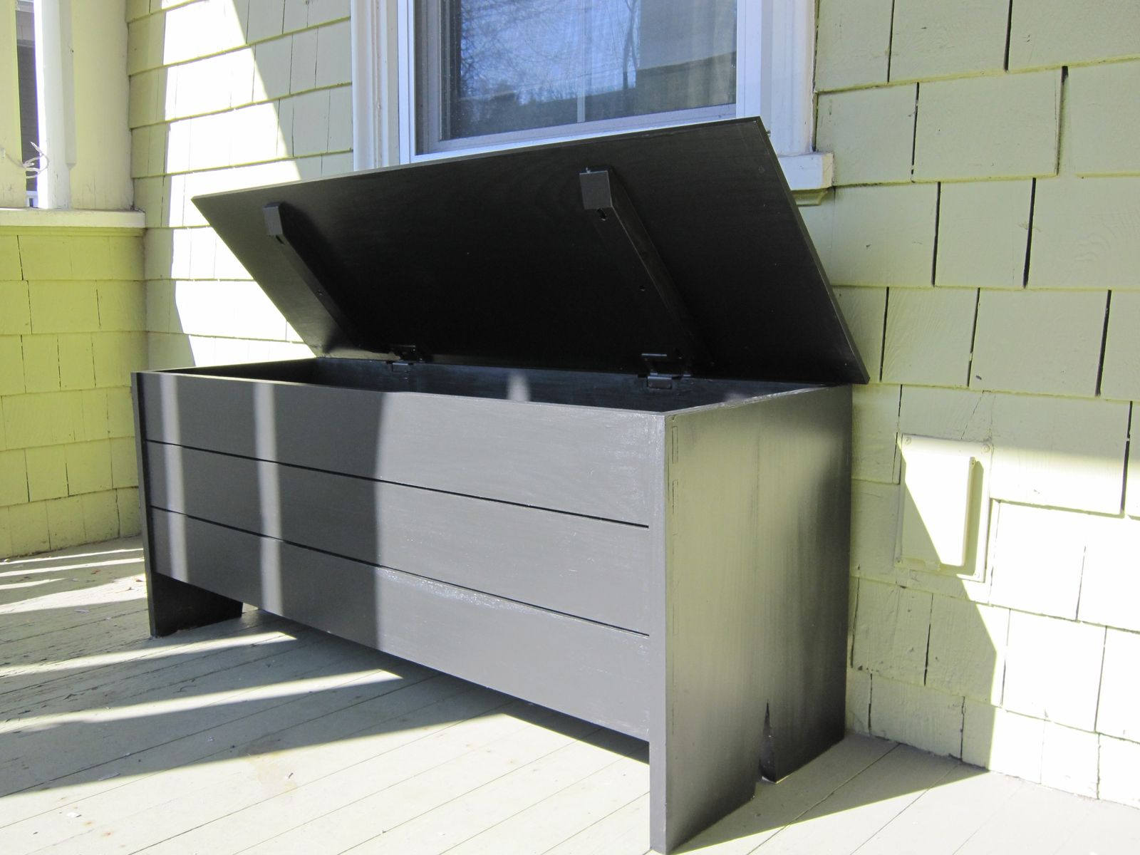 Hand Crafted Outdoor Storage Bench By Newton Fine