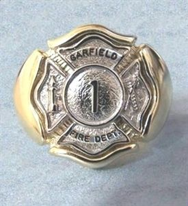 Custom Made Firefighter Ring