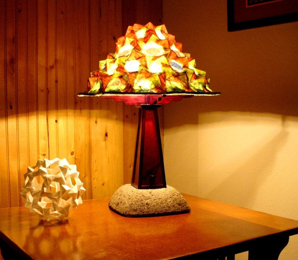 custom craftsman style table lamp by golden heart. Black Bedroom Furniture Sets. Home Design Ideas