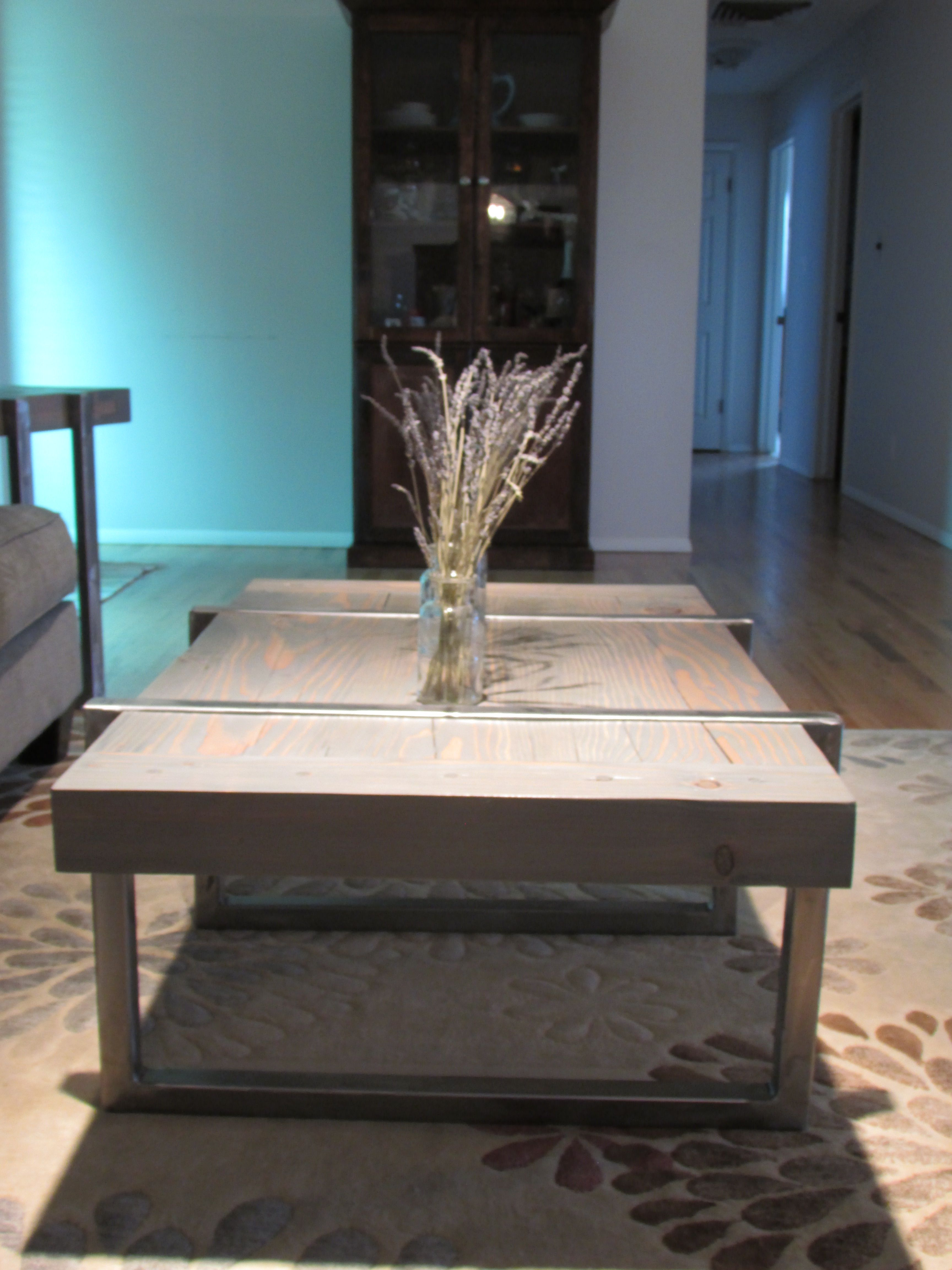 Hand Made Custom Timber And Steel Coffee And End Tables By Connectedcreations Wood Metal Works