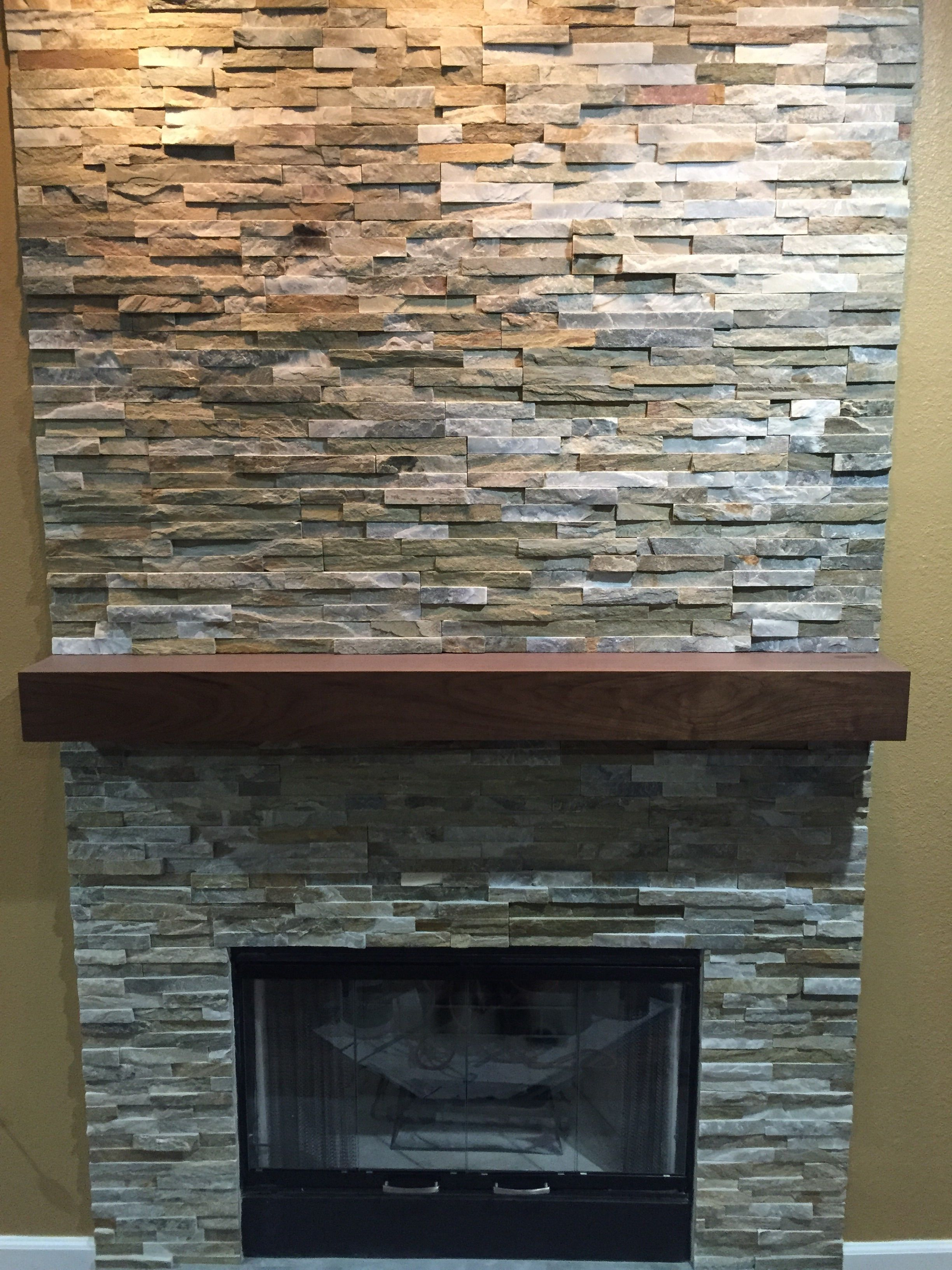 Buy A Hand Crafted Walnut Modern Fireplace Mantel Made To Order From Custom Corners Llc