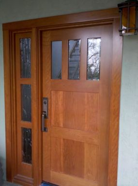 Hand made custom solid wood interior and exterior doors by for Wooden front doors fitted