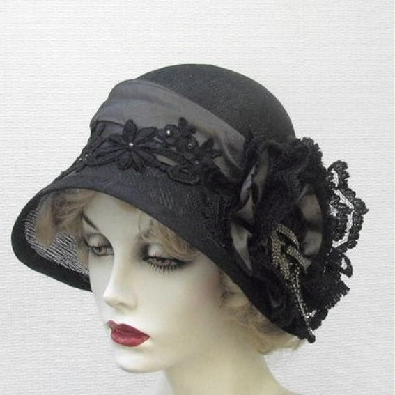 hand made couture vintage style cloche womens hat by gail