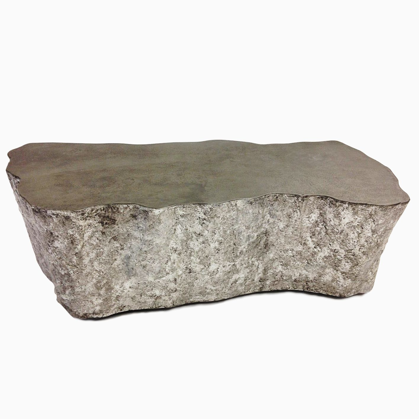 Custom Made Concrete And Silver Leaf Coffee Table by 910 Castings | CustomMade.com