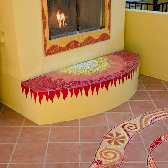 Hand Crafted Mosaics Stunning Patio Space By Kathy