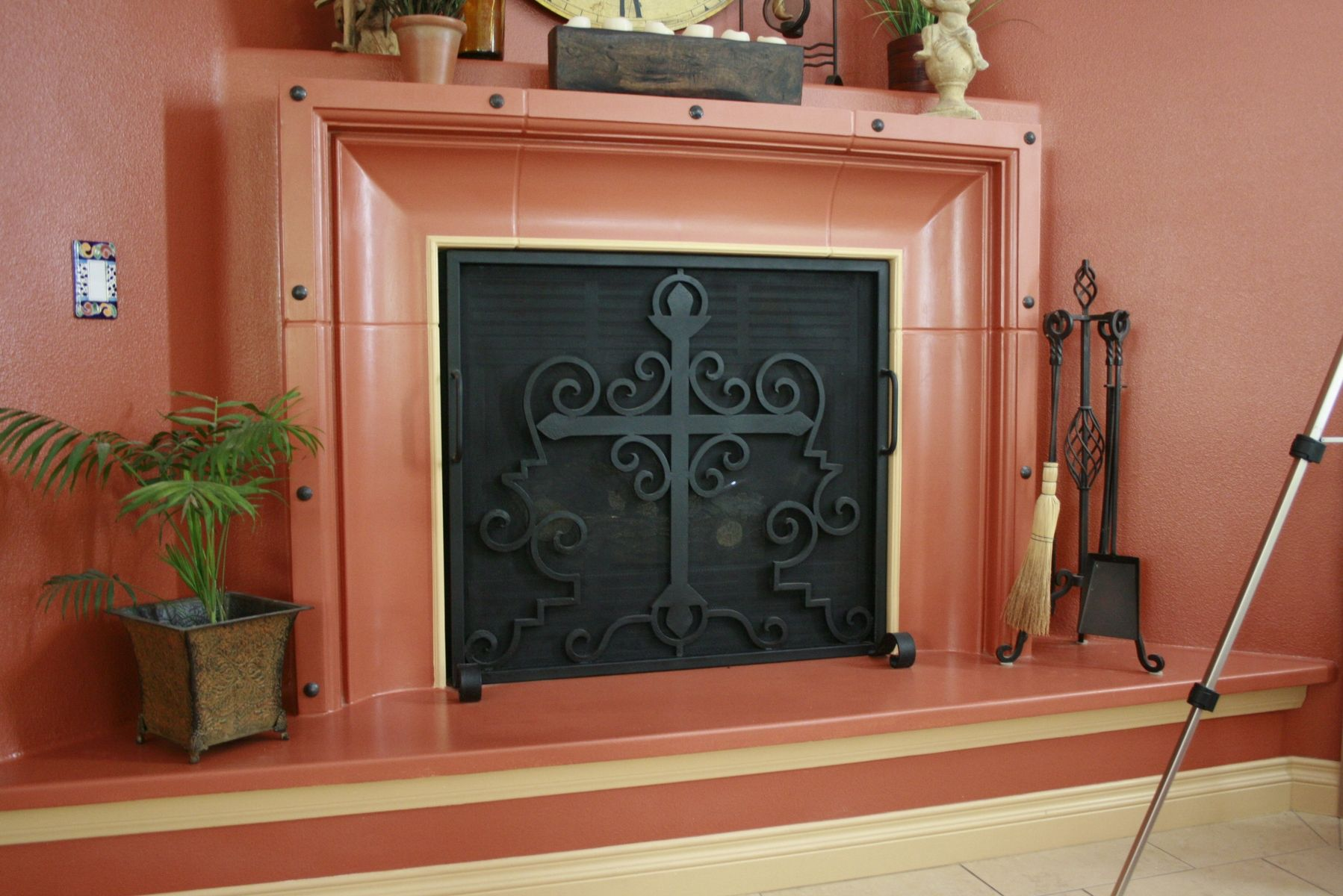 Hand Crafted Hand Forged Fireplace Screens By Demejico Inc Manufactures Of Spanish Style