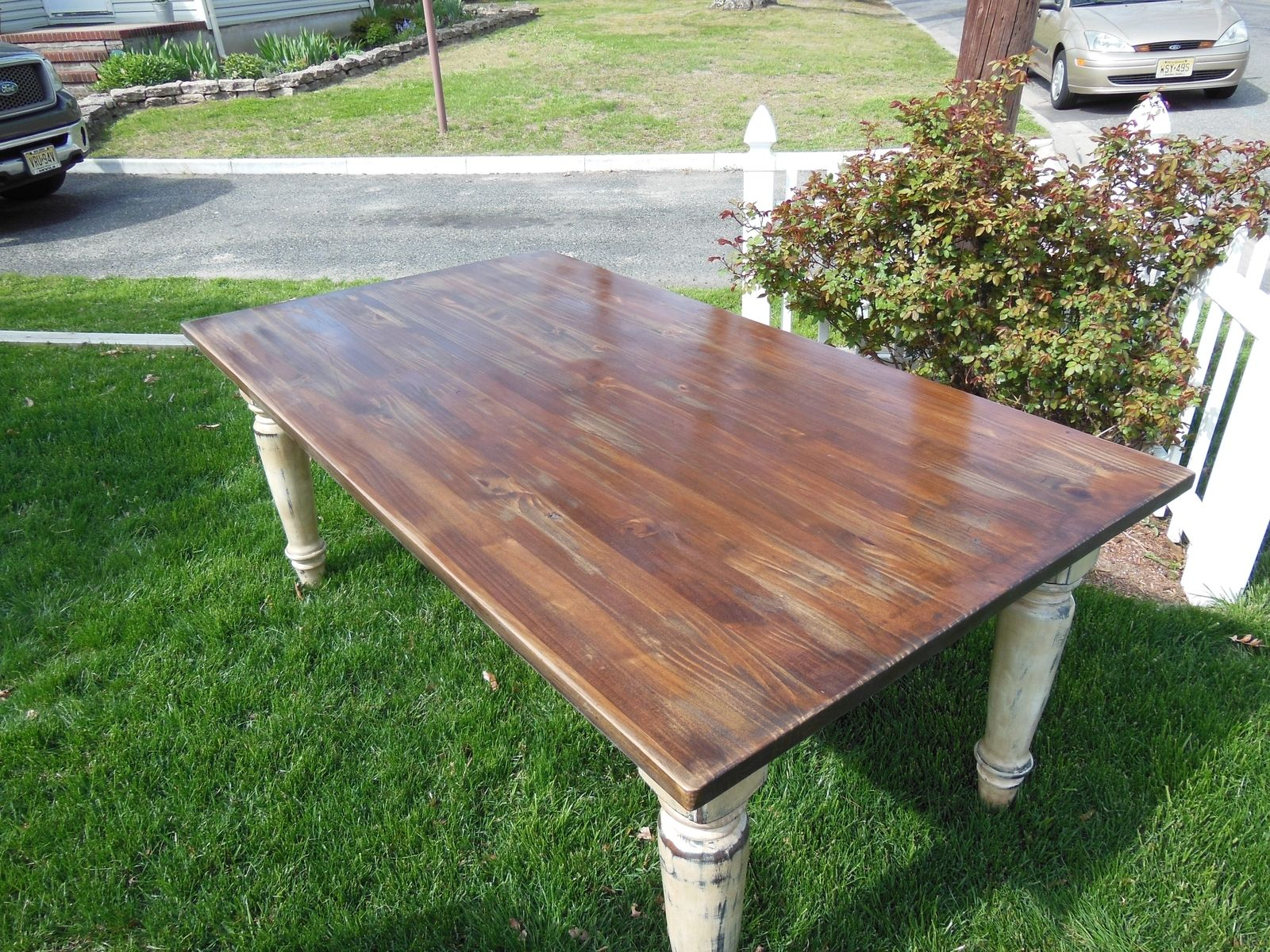 Hand Made Farmhouse Table By The Point Woodworking Co