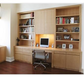 Custom Made Custom Home Office And Desk