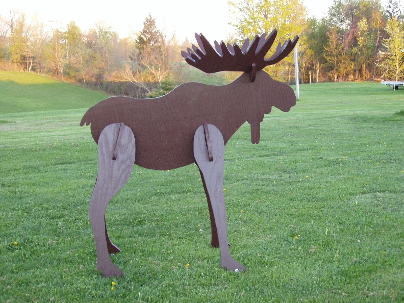 Hand Crafted Lawn Moose Decoration by Windy Woods ...