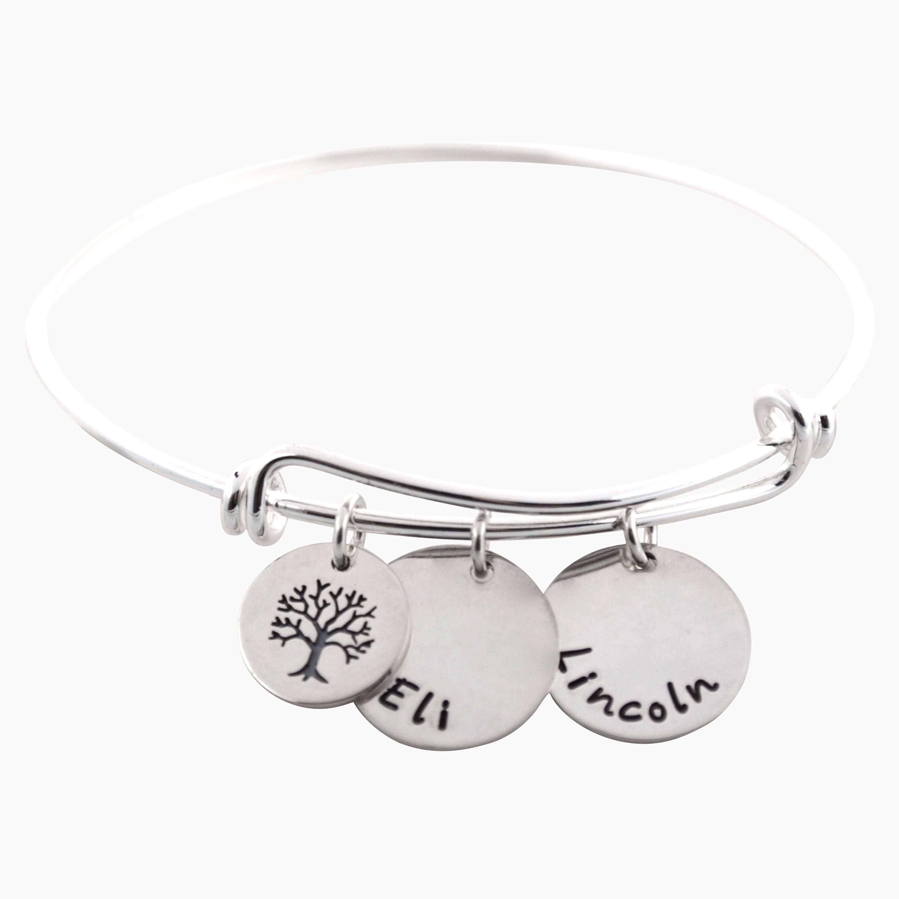 Buy A Custom Personalized Adjustable Mommy Bangle Bracelet