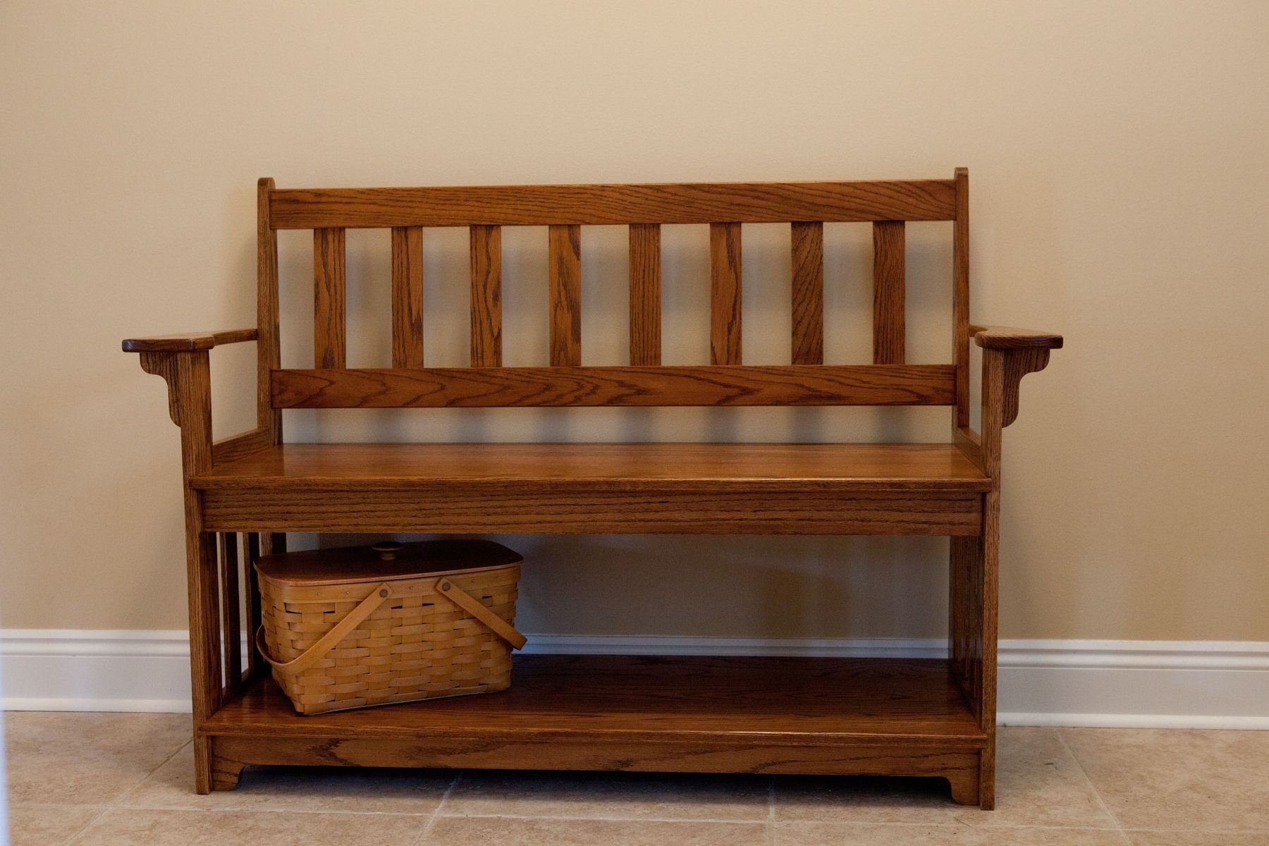 Bench For Foyer : Custom made entryway bench by vintage woodworks of navarre