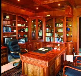 Handmade ultimate home office by elite wood design for Ultimate office design