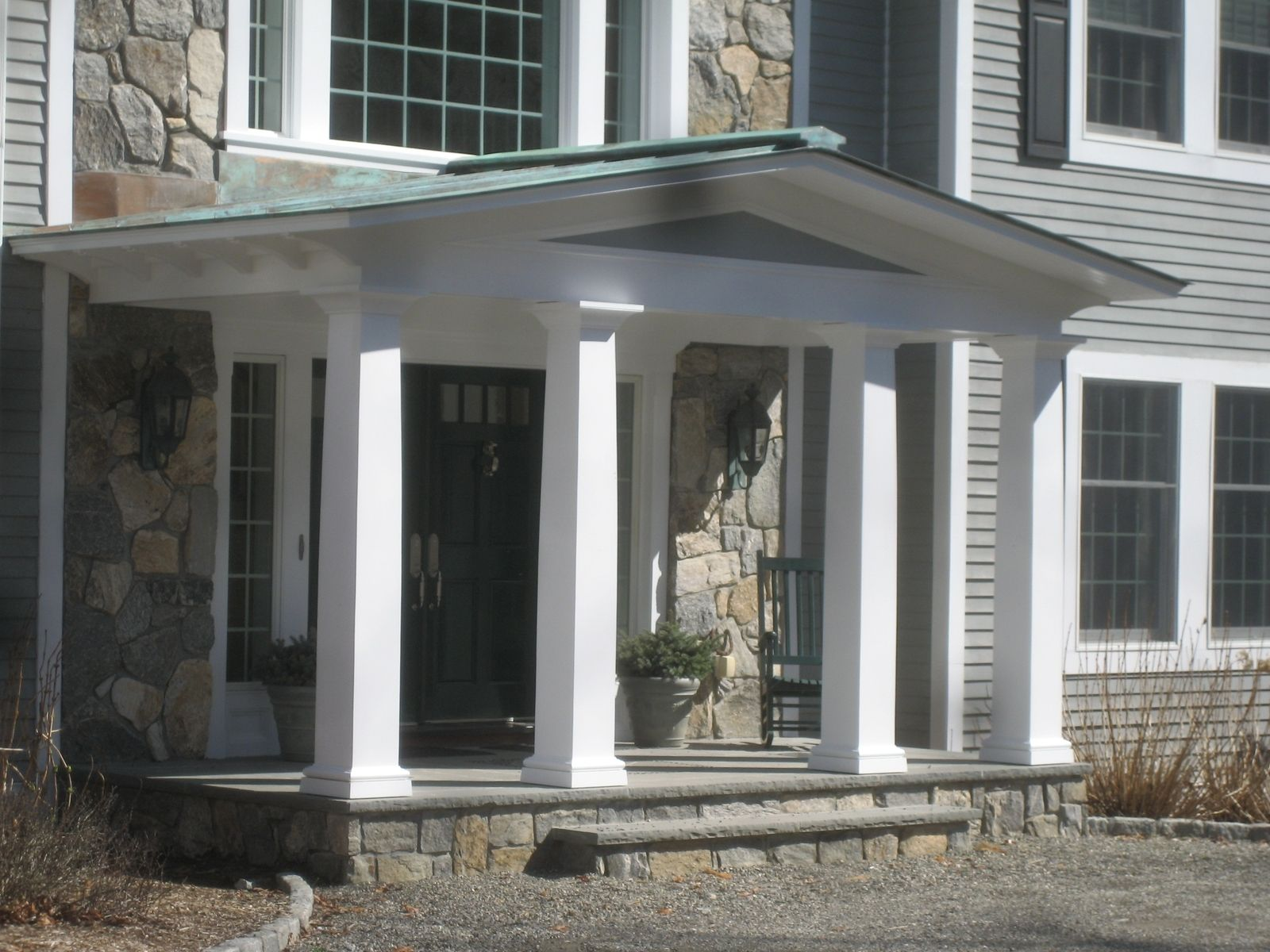 Hand Crafted Front Porch Remodel Bedford Ny By Studio Two
