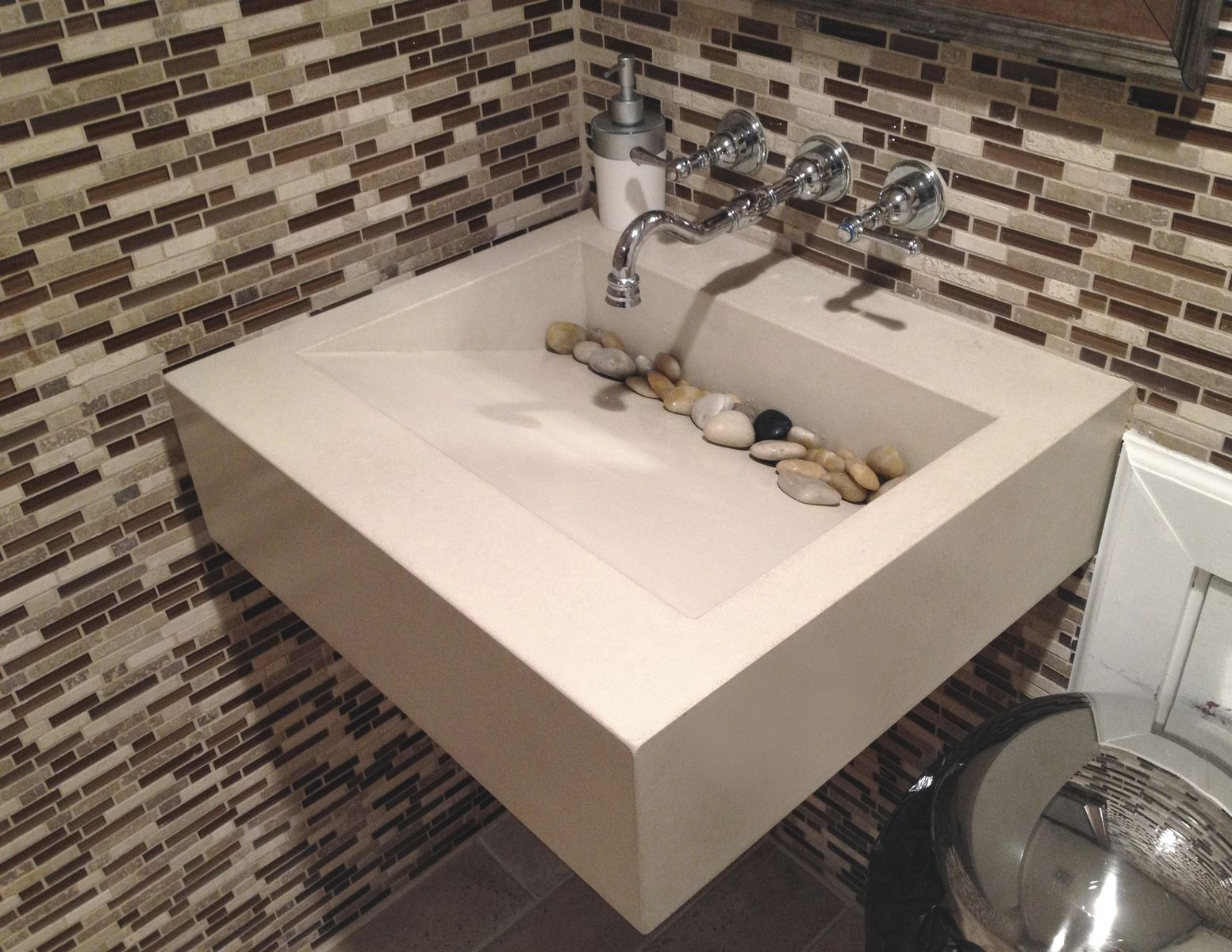 Hand Crafted 30 Quot Ada Floating Sink By Trueform Concrete