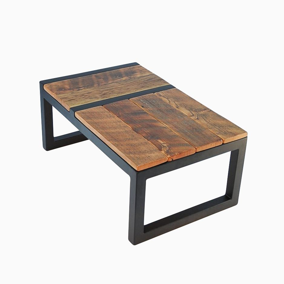 Hand made rustic modern barnwood domino coffee table by jonathan january Unique rustic coffee tables
